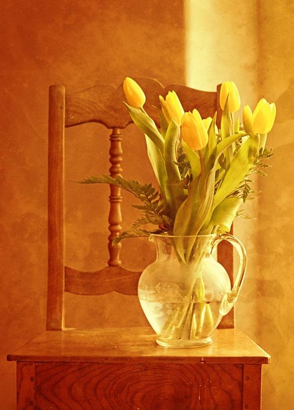 گل داخل گلدان